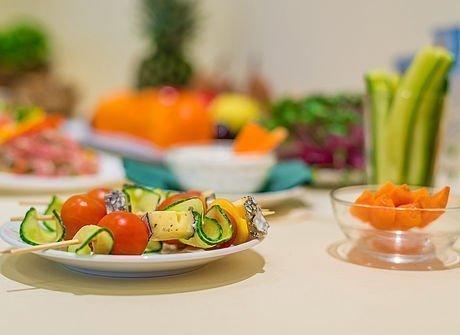 Gesunde Gemüseplatte als Verpflegung beim Seminar im Hotel Stoiser Graz