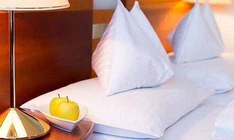 Harmonische Beleuchtung in den Zimmern des Hotel Stoiser Graz