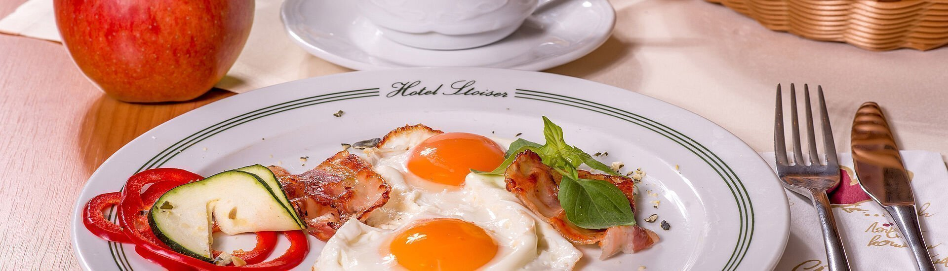 Spiegeleier zum Frühstück im Hotel Stoiser Graz