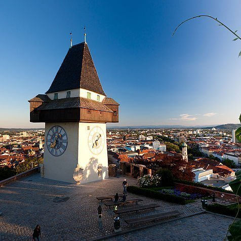 Uhrturm als Wahrzeichen der Stadt Graz